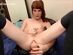 Exotic Amateur Shemale movie with Solo, Dildos/Toys scenes