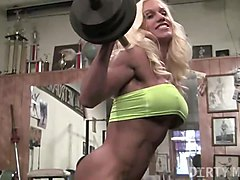 Ashlee Chambers - Dildo Gym Play