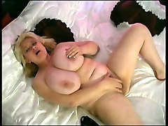 lovely and joyful blonde bbw lady from russia teases camera