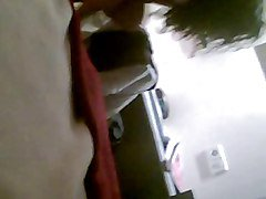 a real spy cam from  a hairy woman in hotel