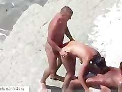 Amateur sex on the beach
