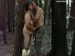 Mature Slovenes Doggy Style In The Forest