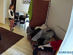 HornyAgent Homemade video with the hotel cleaner