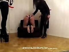 mistress mariam and mistress f hard whipping and caning their slaves part 2