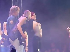fans flashing boobs on stage