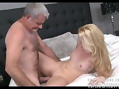 young blonde fucked by an old man