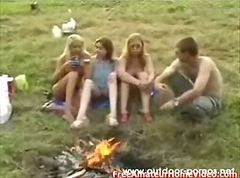 Outdoor Russian Teens