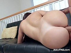 latina maid julianna is barebacked and assfucked