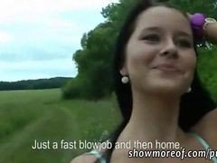 Busty Amateur Brunette Czech Girl Mia Paid For Public Sex