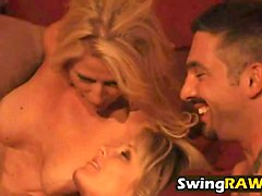 slutty blonde whore enjoys hardcore swinger orgy