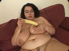 Busty BBW Warms up her wet pussy, then gets some cock