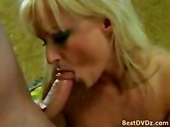 Blonde Chick Rides On Cock In Park