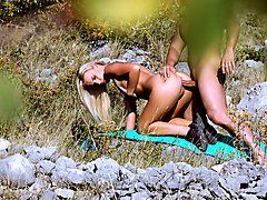 Bea Steel in Voyeur Films a Couple Fucking Outdoors - PervsOnPatrol