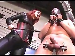 Mistress Beating A Slaves Cock And Balls