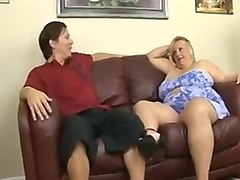 Blond bbw suck and fuck