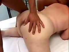 BBW Granny takes anal and swallows cum