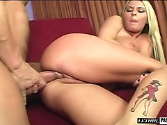 voluptuous minx riley whips out her big melons and gets banged hard